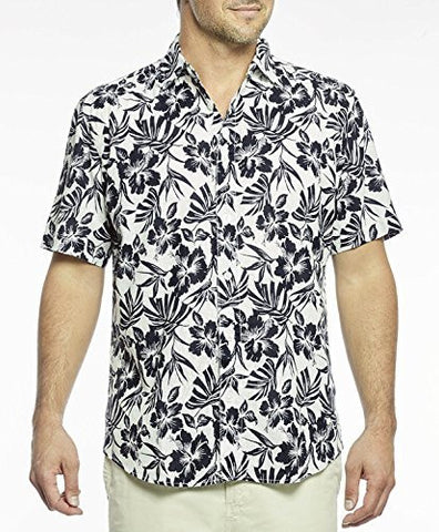 Margaritaville - Floral Shadow, Button Front Short Sleeve, Men's Tropical Shirt