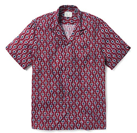Reyn Spooner - Eye See You, Button Front Print Matched Pocket Classic Camp Shirt
