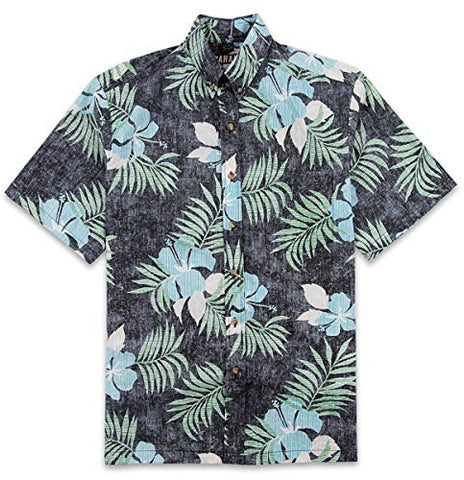 Kahala Sportswear Maui No Ka Oi, Relaxed Fit, Retro Floral Print Hawaiian Shirt