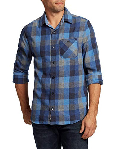 Flag & Anthem -Jamesport, Lightweight Flannel Single Pocket Long Sleeve Men's Shirt