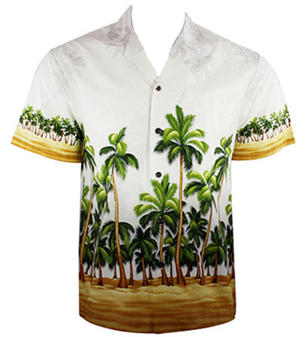 Ky's International - Palm Trees, Men's Casual Hawaiian Short Sleeve Shirt