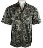Bamboo Cay - Bamboo Leaves, Tropical Style, Moisture Wicking Men's Shirt