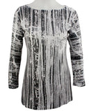 Nally & Millie - Artist Strokes, Round Neck Tunic Top on a Long Sleeve Body