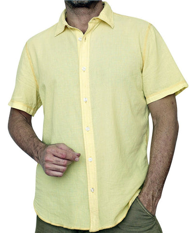 Margaritaville - Golden Haze, Lightweight Enzyme Washed Men's Baja Cotton Shirt