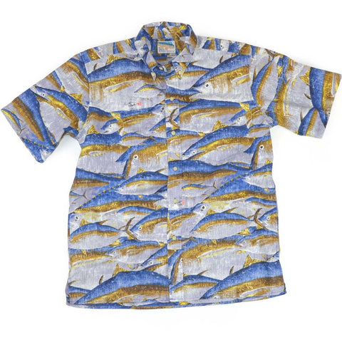 Reyn Spooner - Ahi, Classic Plkt Men's Tropical Print Short Sleeve Shirt