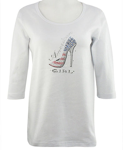 Christine Alexander - American Girl, Swarovski Crystal Accents Scoop Neck Top