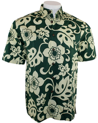 Kahala Sportswear - Kealoha, Broadcloth Cotton Short Sleeve Hawaiian Shirt
