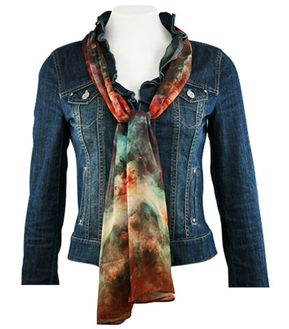 Breeke & Company - Hubble Three Telescope Print Fashion Women's Scarf