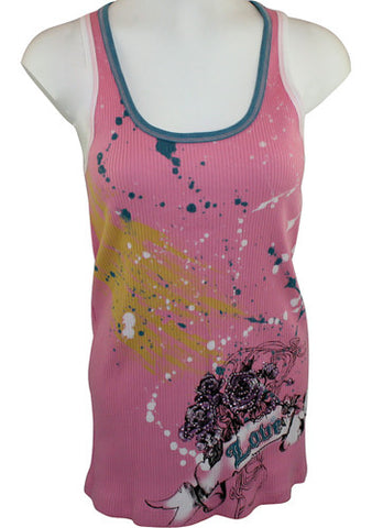 Electric Angel, Junior Sized Top Accented With an Overlay over a Candy Body - Love