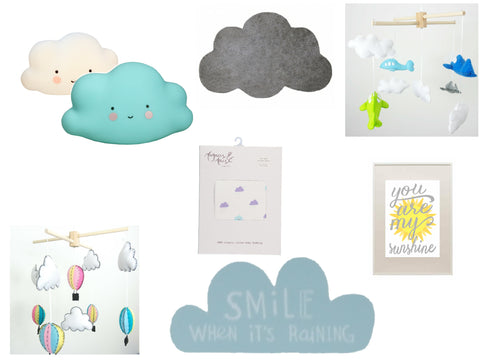 Cloud Rain Weather Nursery Trend Moodboard
