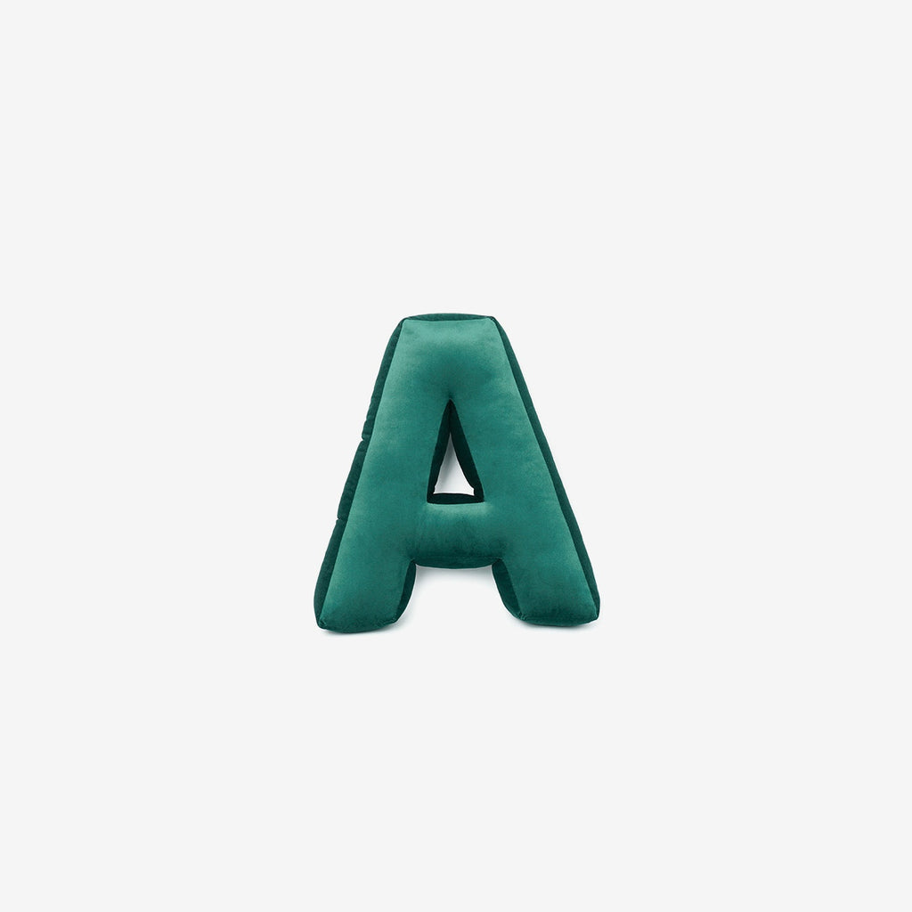Green Alphabet (A-Z and &) Letter Cushion