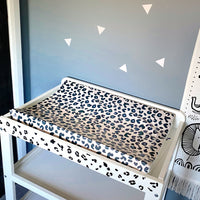 Neutral Leopard Print Anti-Roll Wedge Changing Mat
