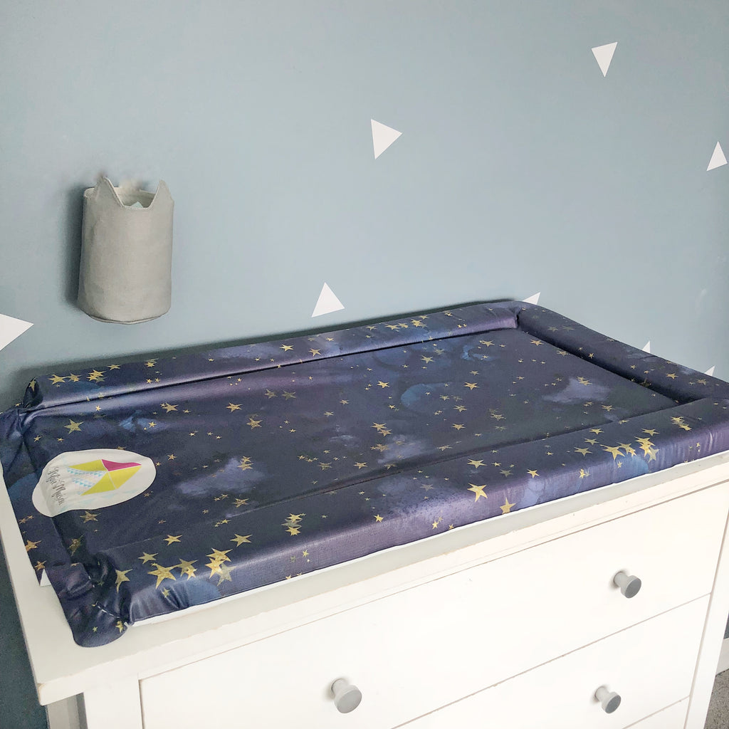 Night Sky Stars Changing Mat