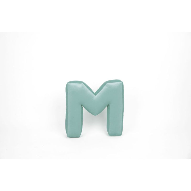 Mint Green Alphabet (A-Z and &) Letter Cushion