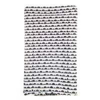 Scandi half moon black and white changing mat