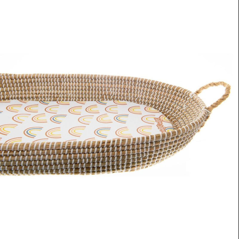 Muted Rainbow Basket Changing Pad