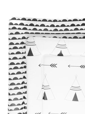 Monochrome Scandi Half Moon Baby Changing Mat