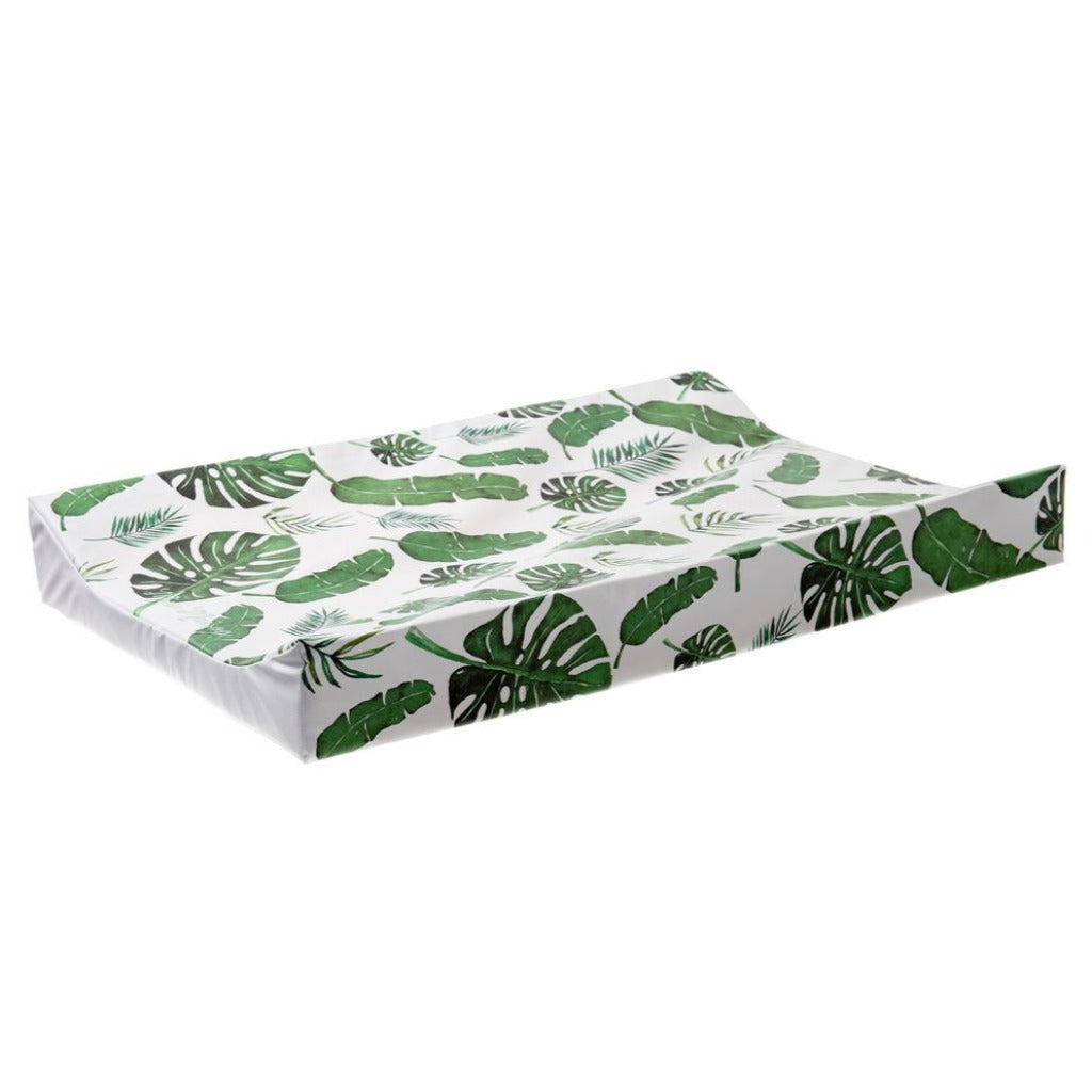 Tropical Leaf Anti Roll Wedge Changing Mat