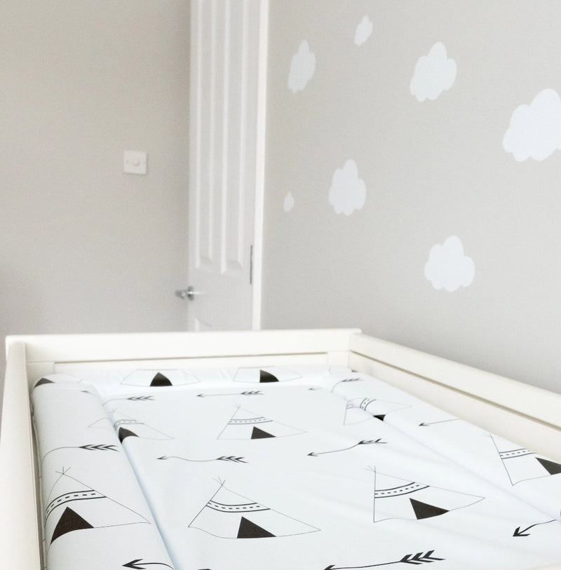 Monochrome Tipi Standard Baby Changing Mat