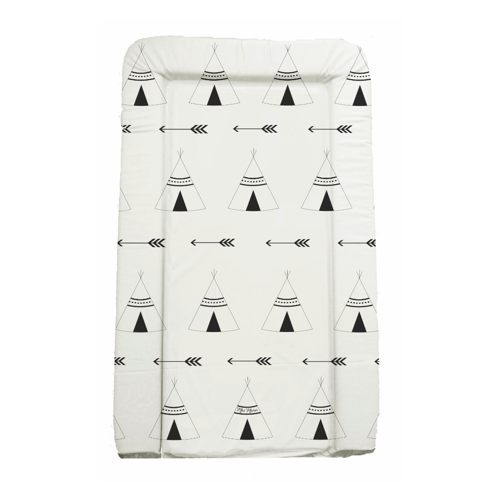 Monochrome Tipi Adventure Wedge Changing Mat