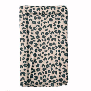 Neutral Leopard Print Baby Changing Mat