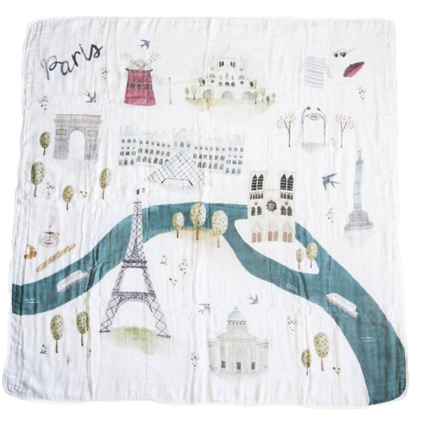 Lou Lou Lollipop Paris Muslin Swaddle