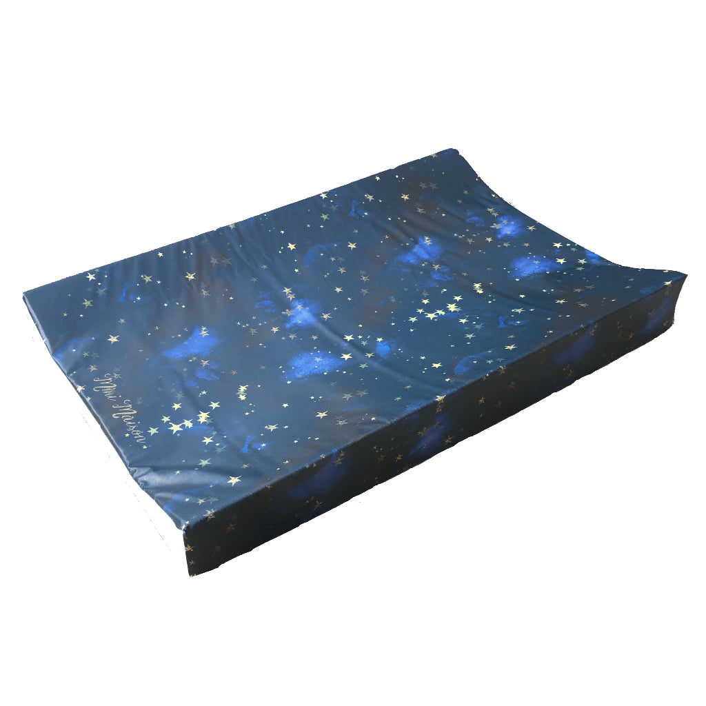 Blue Night Sky Star Wedge Luxury Changing Mat