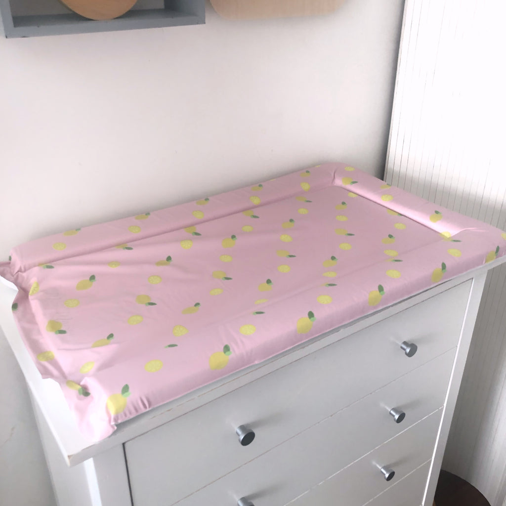 Pink and Yellow Girl's Changing Mat