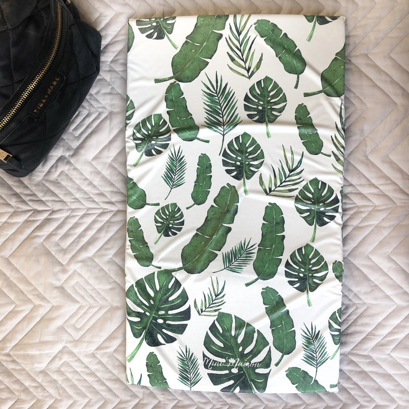 Tropical Leaf Extra Thick Travel Changing Mat