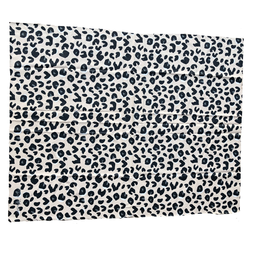 Neutral Leopard Print Splash Mat