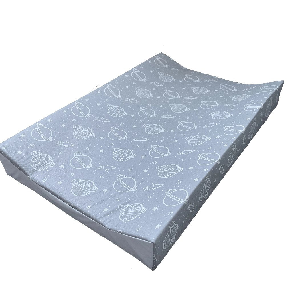 Grey Space Wedge Anti Roll Changing Mat