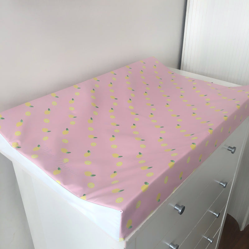 Pink Lemonade Anti-Roll Wedge Changing Mat