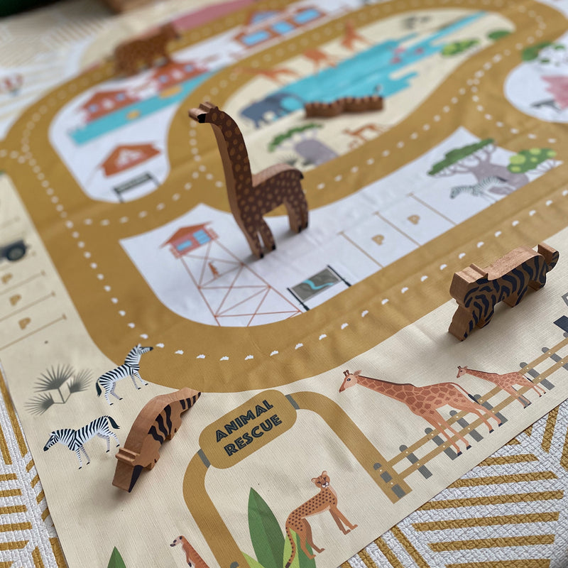 Mini Adventures: 'Safari Hop'  Play Mat