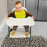 Neutral Leopard Weaning Splash Mat