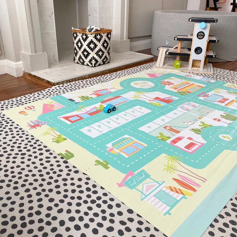Wheel Travels Road Playmat