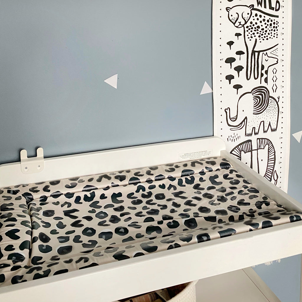 leopard print baby changing mat