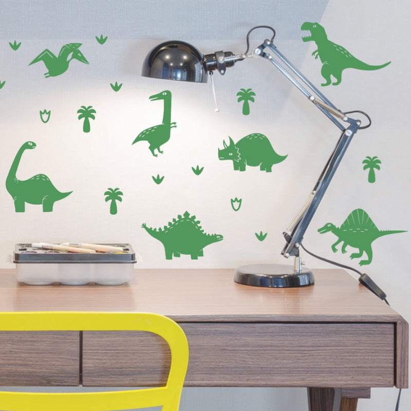 PÖM LE BONHOMME Green Dinosaur Wall Stickers