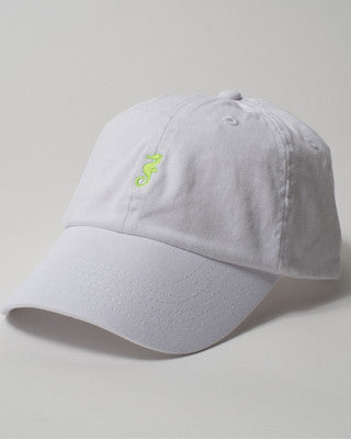 Whore Cap - White w/ Green Logo