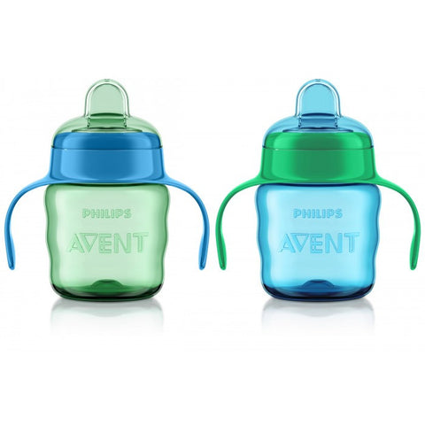 Philips Avent My Easy Sippy Classic Spout -  Green/Blue 7oz 2pk -  - Oh Baby Baby!  - 1