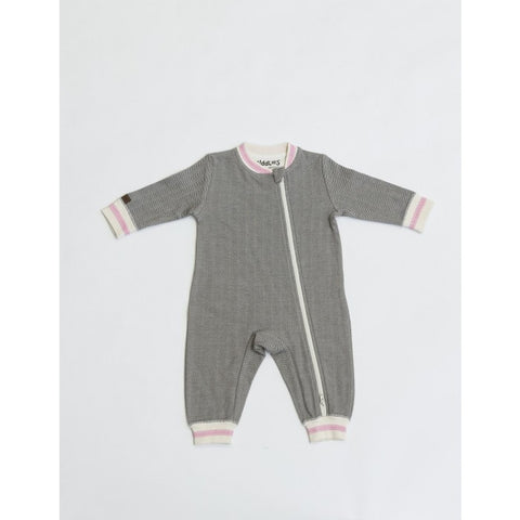 Juddlies - Cottage Playsuit - Grey/Pink - Newborn - Oh Baby Baby!  - 1