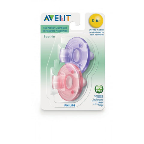 Philips Avent Purple & Pink Soothie 0-3 months - 2pk -  - Oh Baby Baby!  - 1