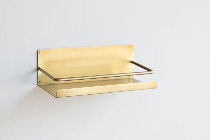 Fog Linen - Handmade Brass Wall Shelf