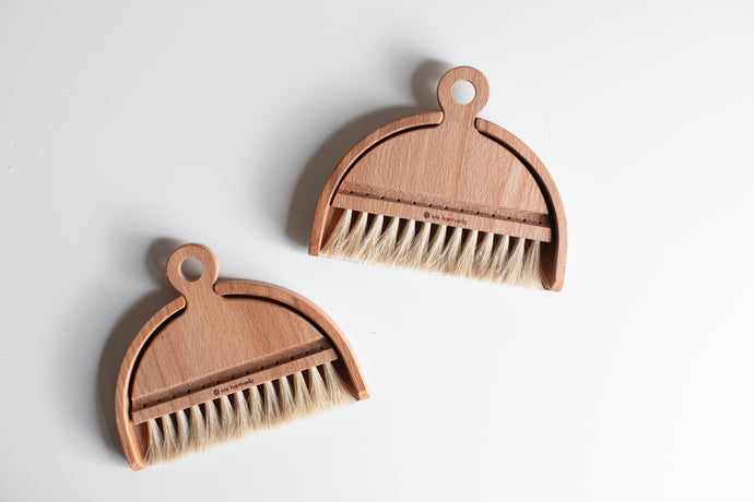 Wooden Table Brush and Dustpan Set