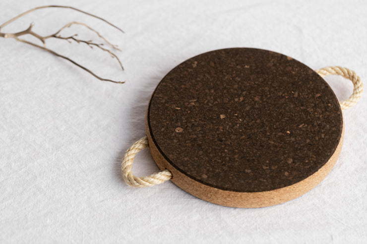 Cork Trivet With Rope Handles