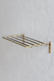 Brass Wire Wall Shelf