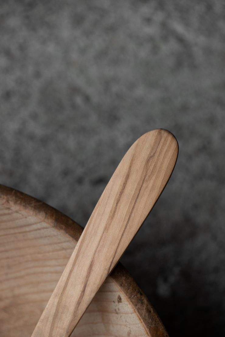 "12"" Olive Wood Serving Spoon"