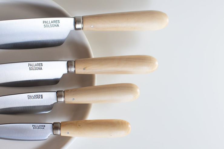 Stainless Steel Kitchen Knives - Boxwood Handle