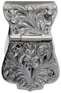 Antiqued Hand Engraved Money Clip 021-400