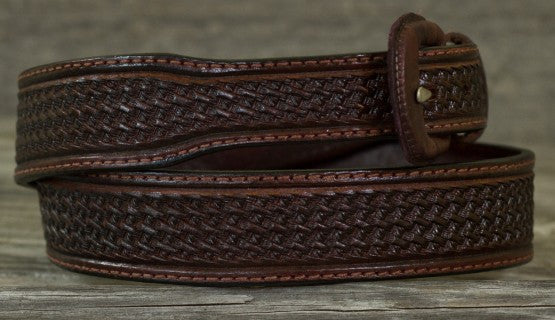 Leather Belt - Saddle Brown Basket