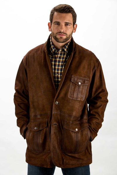 Nubuck Goatskin Distressed Travel Jacket